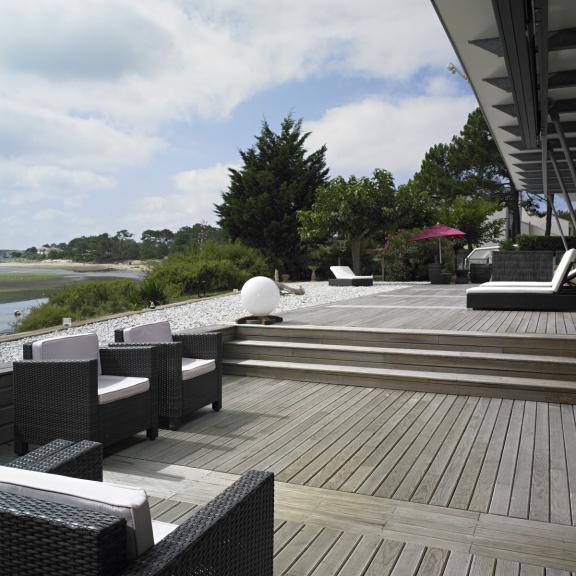 Terrasse bois trait classe 4 prix au m2 discount images - Photo de terrasse ...